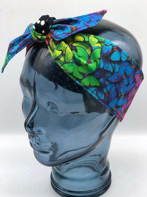 Rainbow Butterflies Headscarf