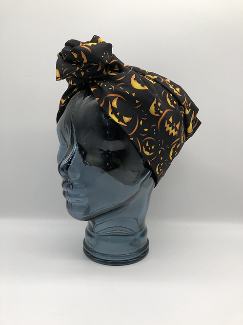 Jack-O-Lantern Twisted Turban