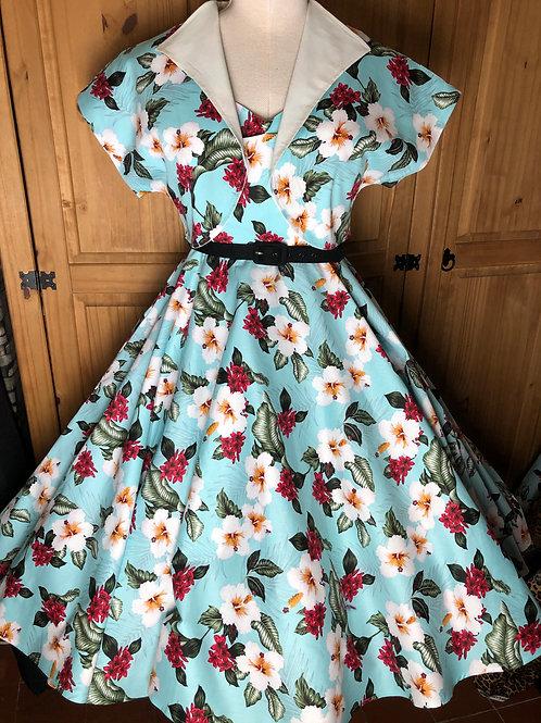 Hawaiian Green Anya Circle Dress & Bolero Size 12