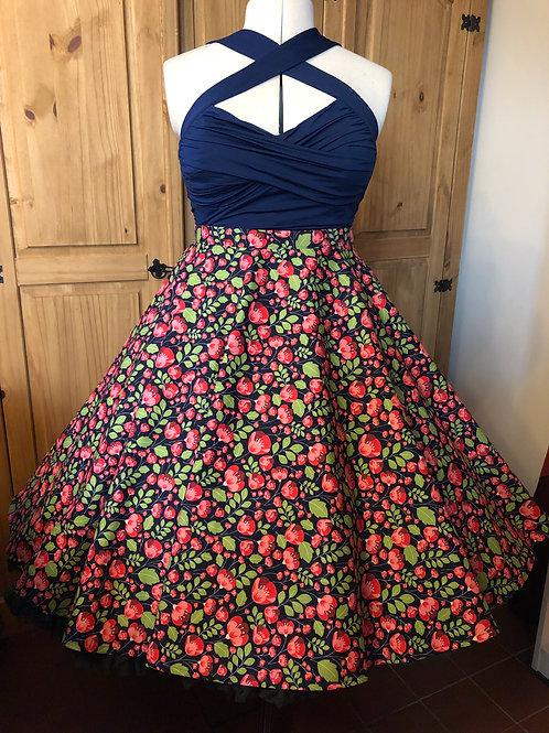 Polly Poppy Florence Skirt Size 8