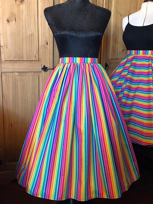 Rainbow Stripes Gertie Skirt