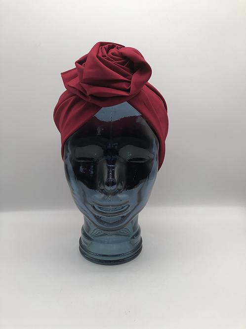 Crimson Cotton Twisted Turban