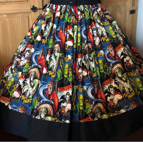 Pleasures & Pastimes Gertie Border Skirt