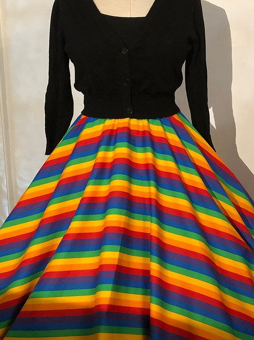 Rainbow Wide Stripes Florence Skirt