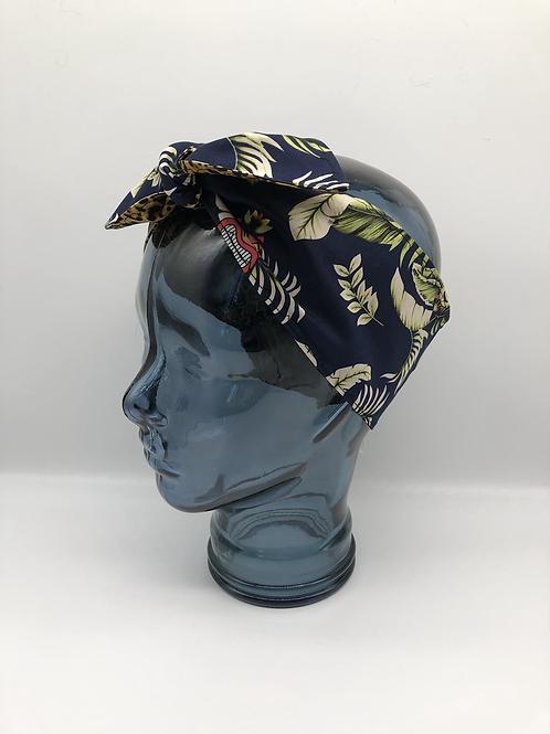 Tiki leopard Headscarf