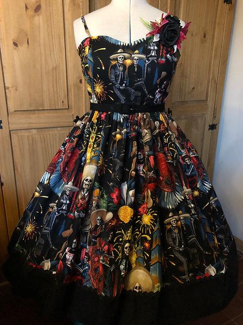 Alexander Henry 'Fiesta De San Marcos' Anya Border Dress