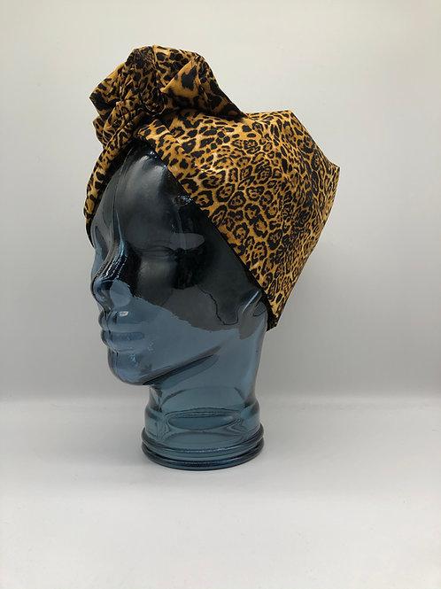 Fierce Leopard Twisted Turban