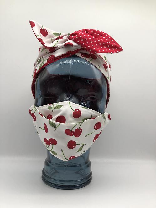 Ivory Cherries 3D Face Mask