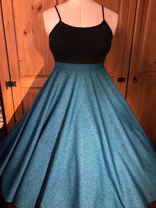Teal Leopard Print Florence Skirt Size 16