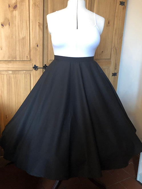 Black Cotton Florence Skirt Size 12