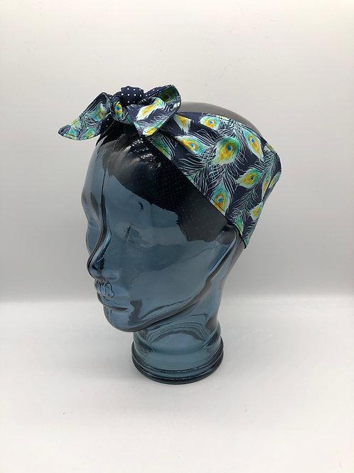 Peacock Feathers Headscarf