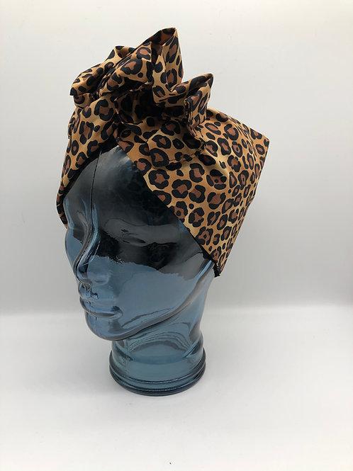 Leopard Print Twisted Turban