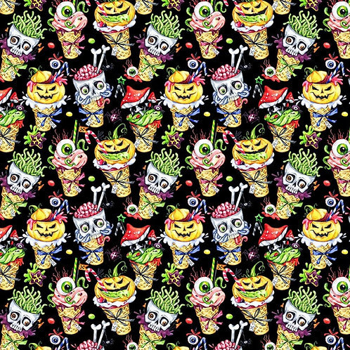 Crafty Cotton Spooky Ice Cream 100% Cotton