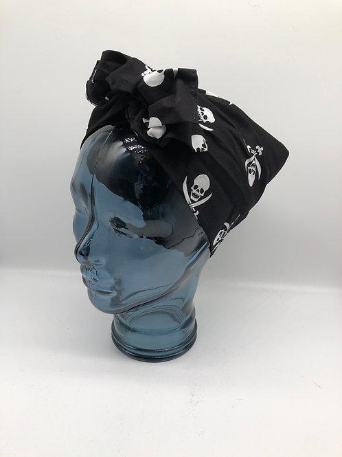 Skull & Crossbones Twisted Turban