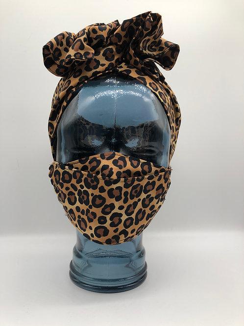 Leopard Print 3D Face Mask