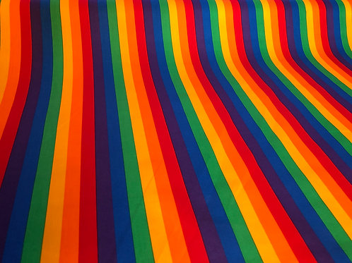 Rainbow Wide Stripes Gertie Skirt