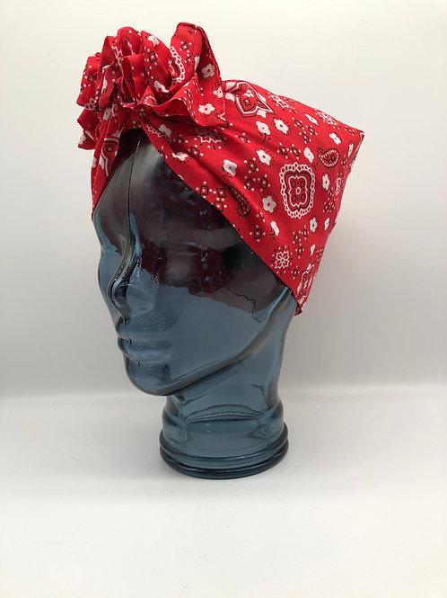 Red Rockabilly Twisted Turban