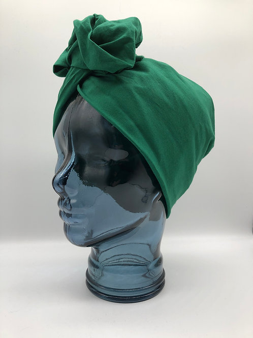 Emerald Cotton Twisted Turban