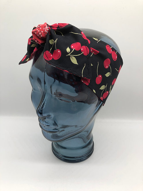 Cherry Bandana Headscarf