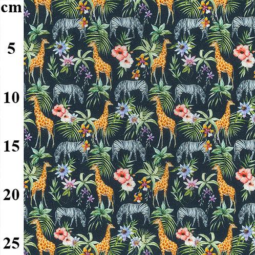 John Louden Jungle Animals 100% Cotton