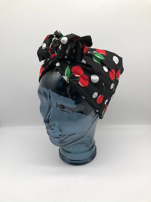 Cherry Dot Spot Twisted Turban