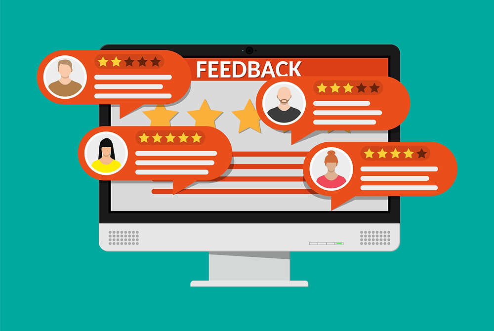 Graphic of customer feedback responses