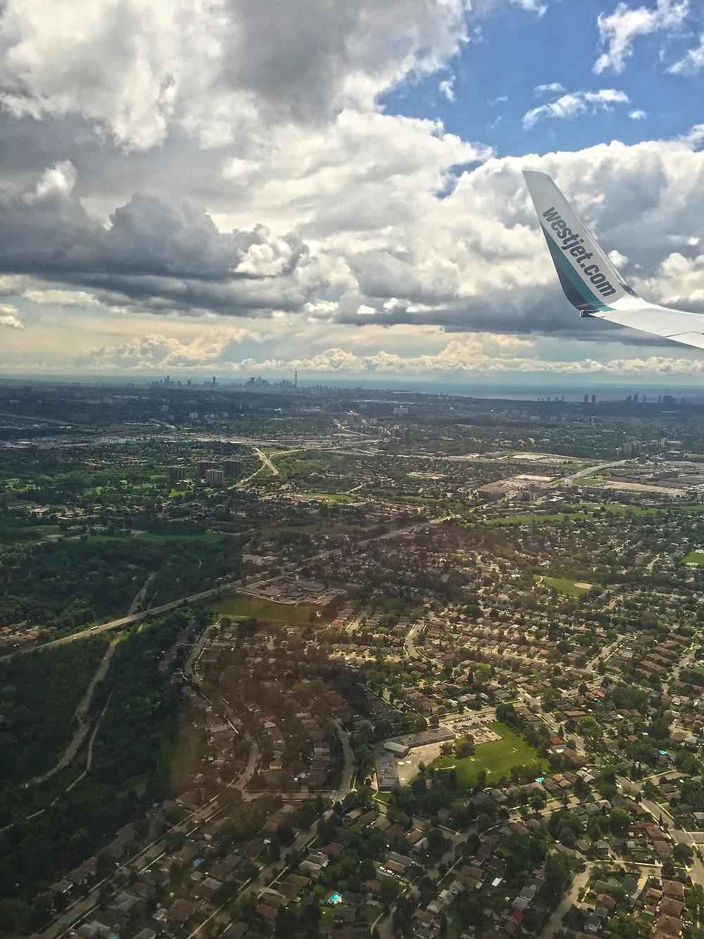 Aerial shot of Toronto
