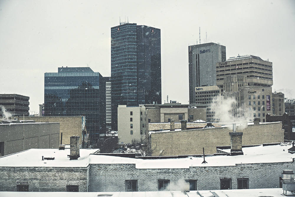 Downtown Winnipeg on a cold Wintery day