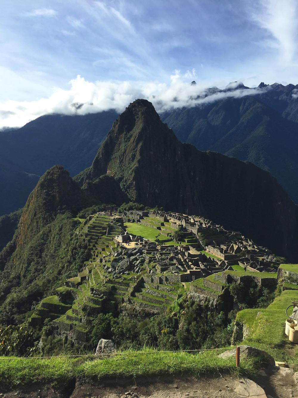 The classic photo of Machu Picchu