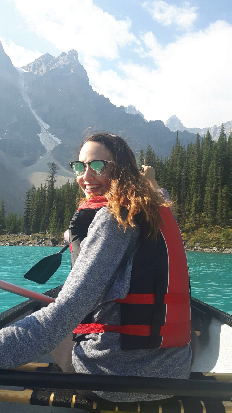 Canoeing on Moraine Lake