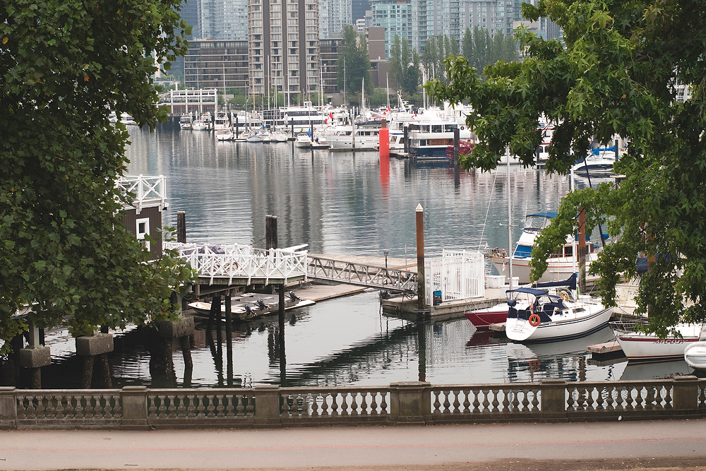 The Marina near Stanley Park in Vancouver