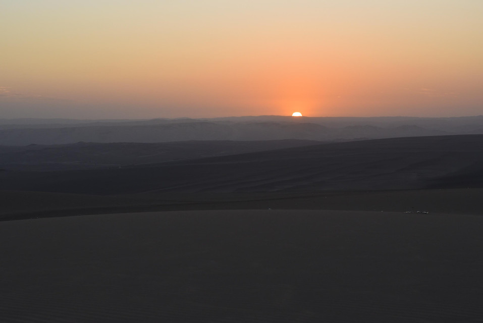Sunset in Huacachina in Peru | A Slave of Time Blog Post