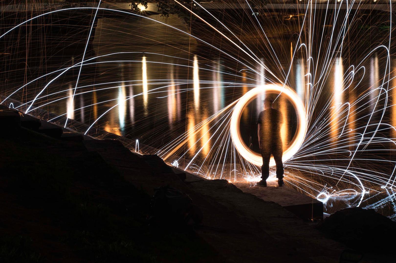 Steel Wool Photography in Winnipeg, Canada