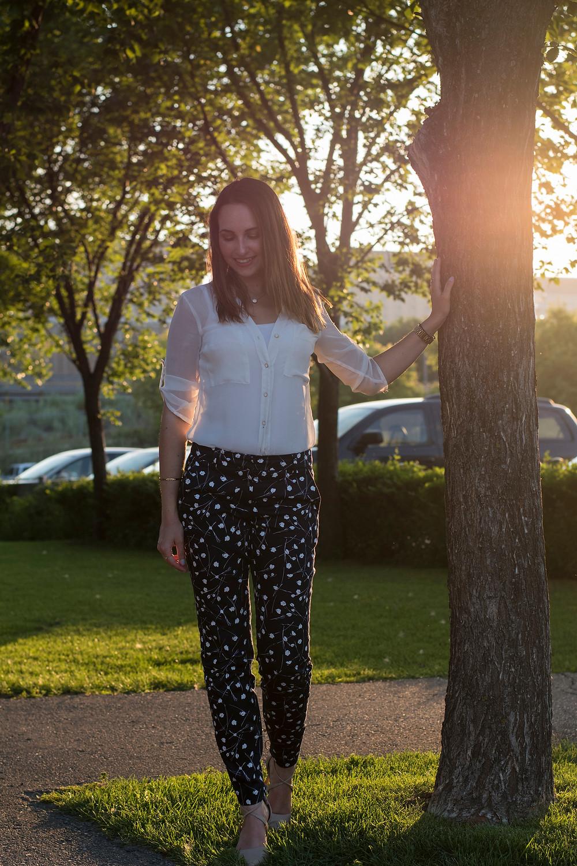 Blue & White Pants