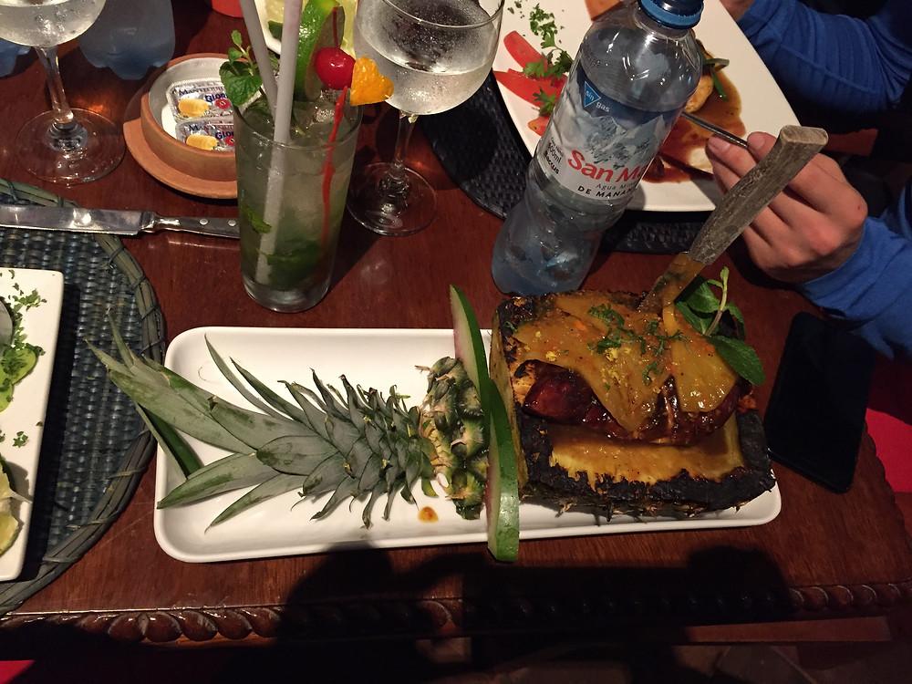 Indio Feliz pineapple dish
