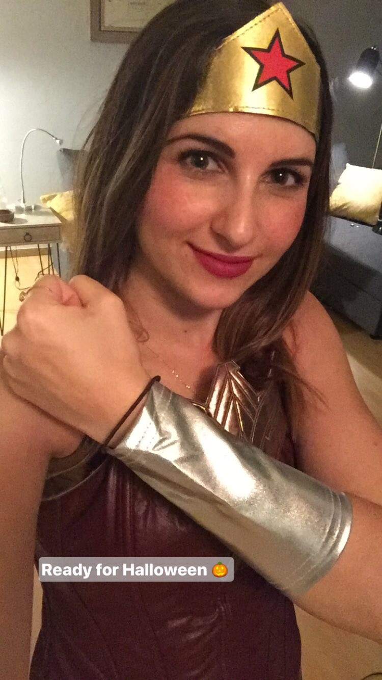 Wonder Woman costume featuring the Canadian Gal Gadot