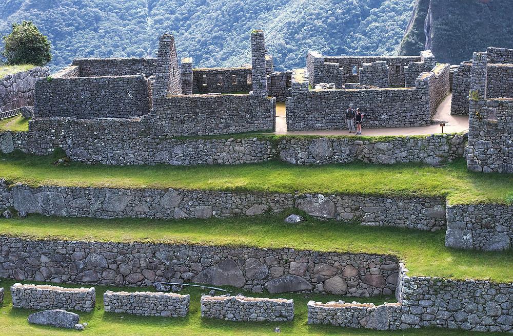 Exploring Machu Picchu ruins