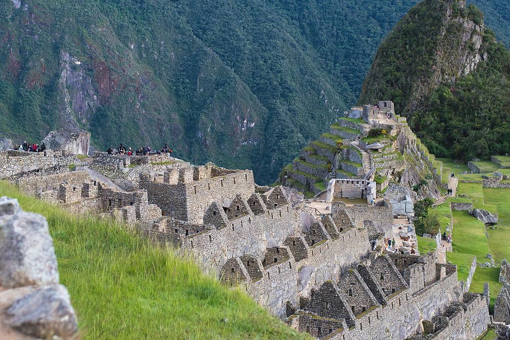 Close up of Machu Picchu before sunrise