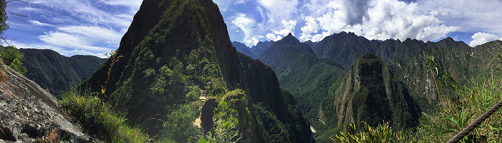 Panorama of the view from Huayna Picchu