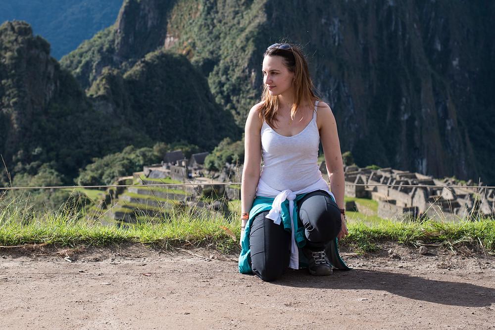 A selfie with Machu Picchu behind me