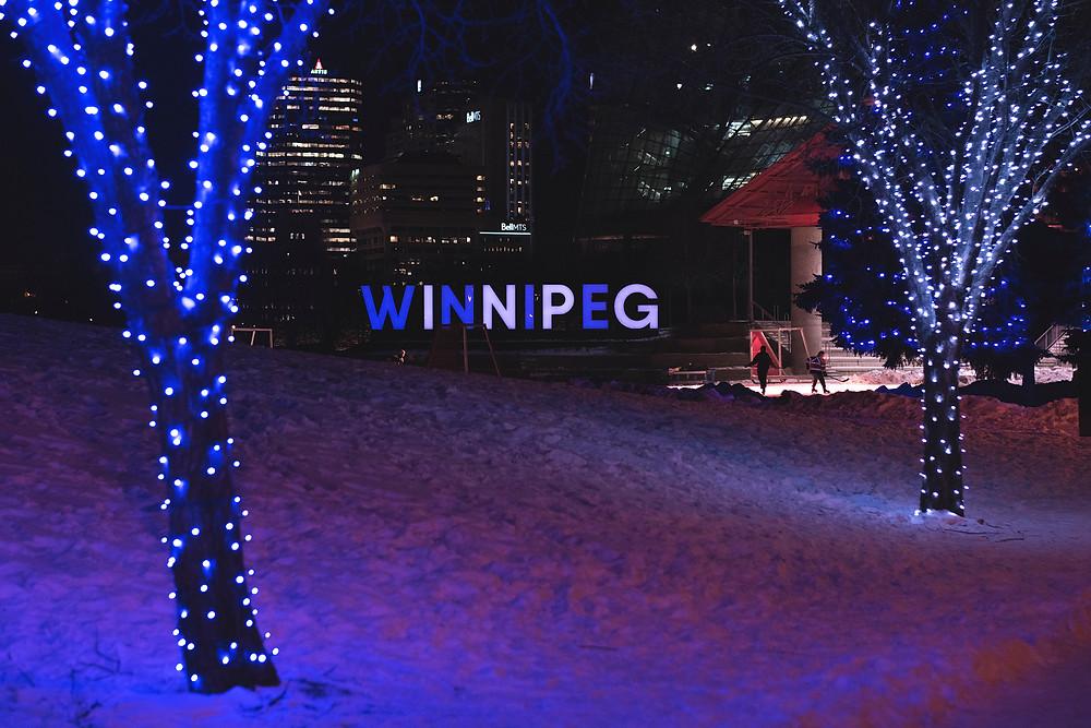 Winnipeg sign at the Forks