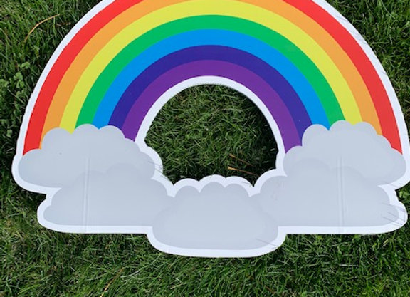Rainbow and Cloud Icon