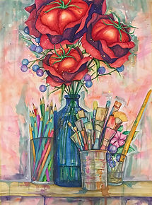 tin q nguyen nashville tennessee tomato rose watercolor colorful creative artistic