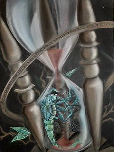 dragonfly hourglass time tin q nguyen art vanderbilt artist scientist nashville