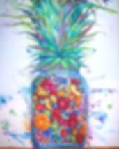 tomato fruit art watercolor tin nguyen vanderbilt colorful jar pineapple orange apple