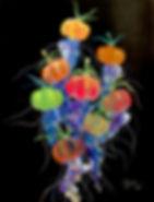 tin q nguyen art vanderbilt artist scientist nashville tomato jellyfish colorful fruits