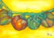 tomato art fest watercolor ink vine sketch fruit colorful tin nguyen