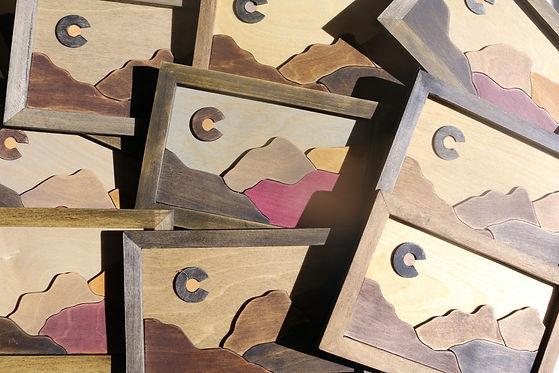 Eco-friendly wood art