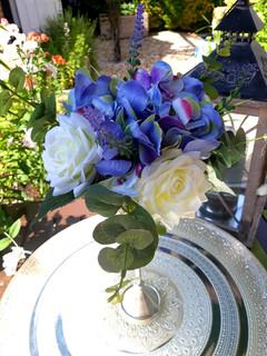 Blue Hydrangea Floral Centrepiece