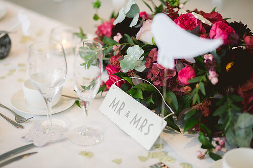 Beautiful top table decorations